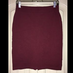 Burgundy pencil skirt!